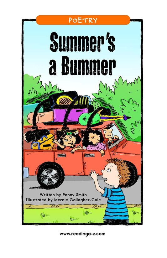Book Preview For Summer's a Bummer Page 1