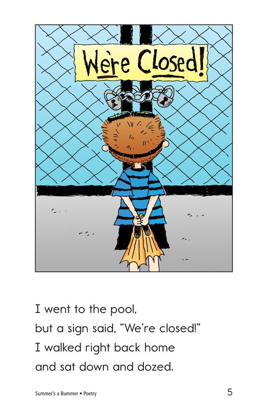 Book Preview For Summer's a Bummer Page 5