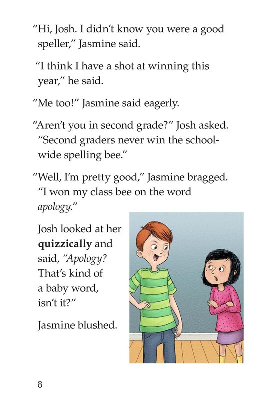 Book Preview For The Spelling Bee Page 8