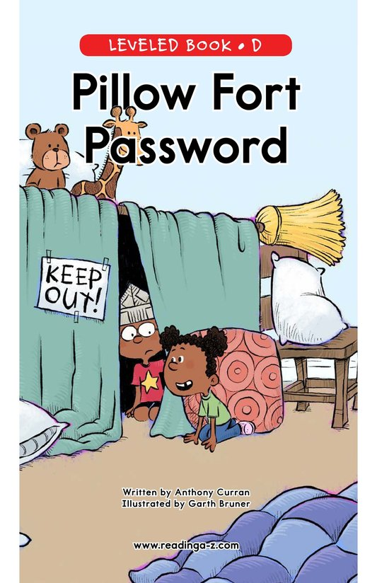 Book Preview For Pillow Fort Password Page 0