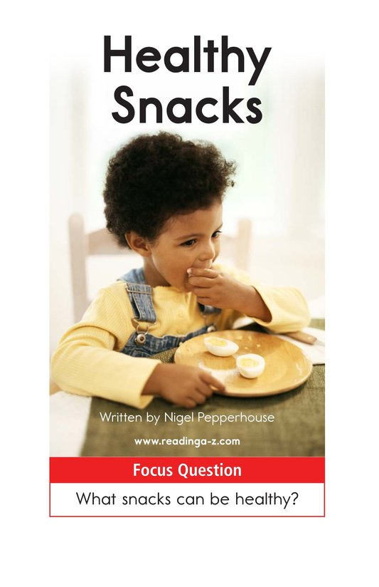 Book Preview For Healthy Snacks Page 1