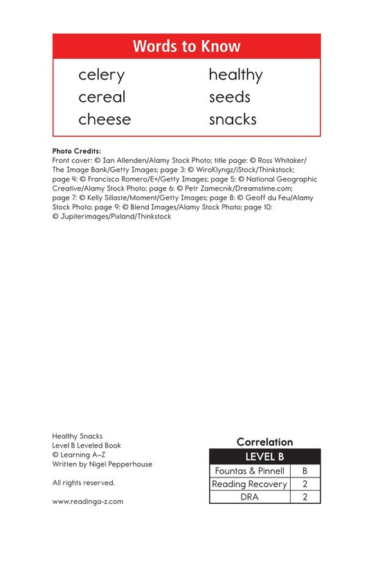 Book Preview For Healthy Snacks Page 2