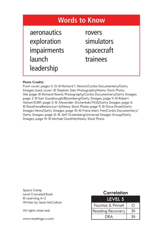 Book Preview For Space Camp Page 2