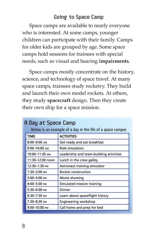 Book Preview For Space Camp Page 8