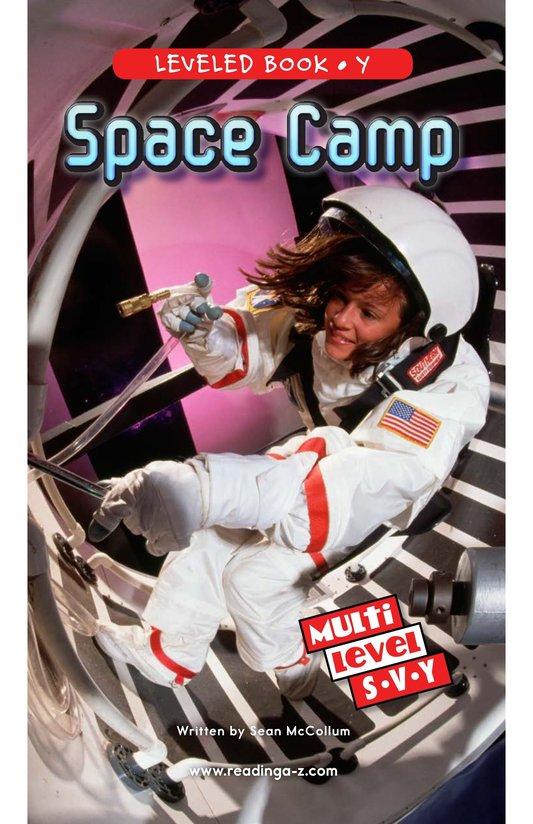 Book Preview For Space Camp Page 0