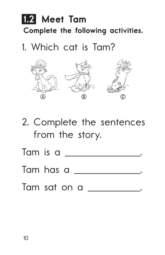 Book Preview For Decodable Passages Set 1 Book 1 Page 10