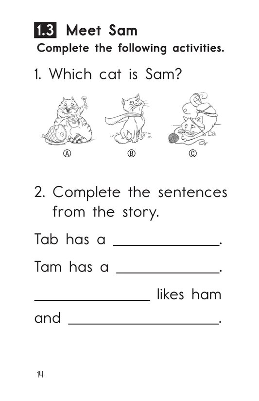 Book Preview For Decodable Passages Set 1 Book 1 Page 14