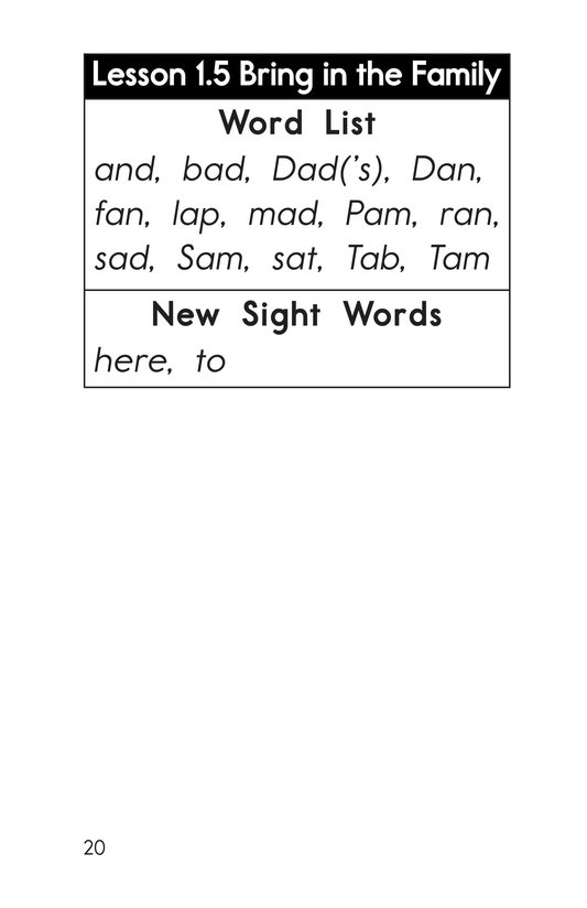 Book Preview For Decodable Passages Set 1 Book 1 Page 20