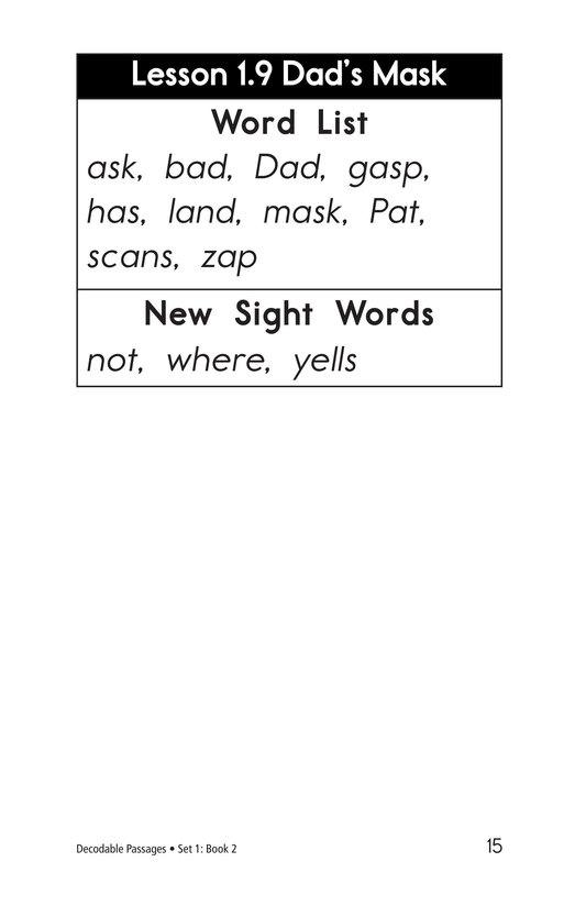 Book Preview For Decodable Passages Set 1 Book 2 Page 15