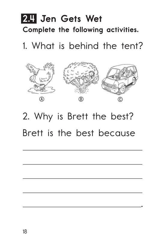 Book Preview For Decodable Passages Set 2 Book 1 Page 18