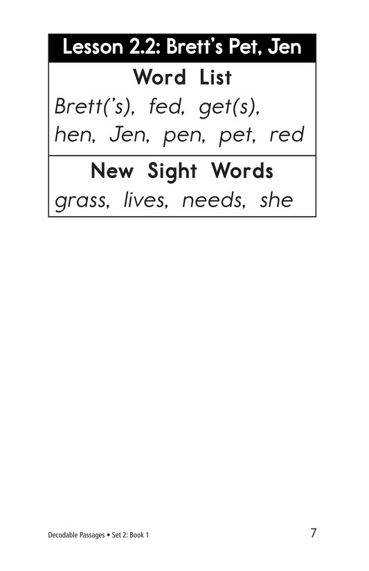 Book Preview For Decodable Passages Set 2 Book 1 Page 7