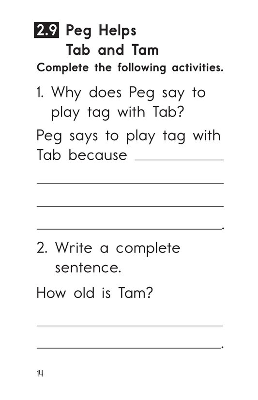 Book Preview For Decodable Passages Set 2 Book 2 Page 14