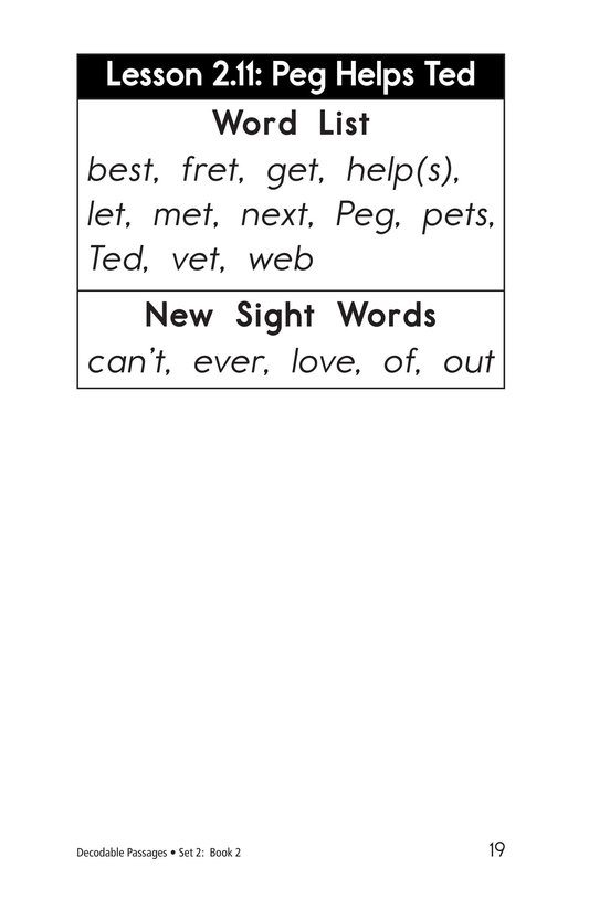 Book Preview For Decodable Passages Set 2 Book 2 Page 19