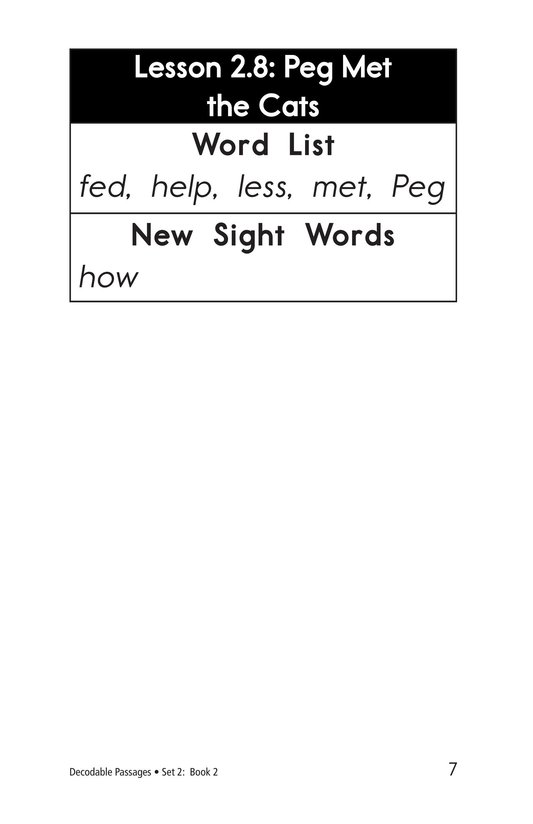 Book Preview For Decodable Passages Set 2 Book 2 Page 7