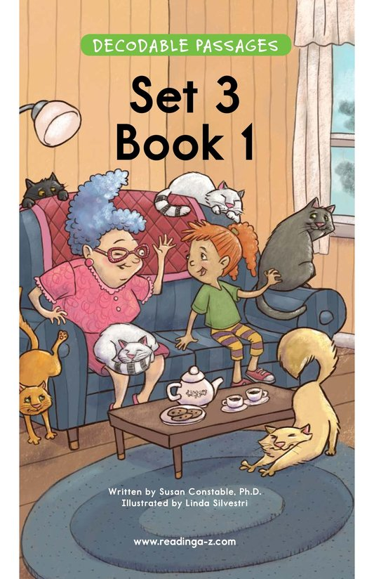 Book Preview For Decodable Passages Set 3 Book 1 Page 1
