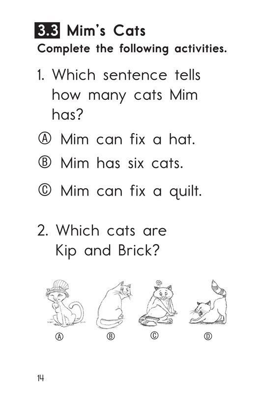 Book Preview For Decodable Passages Set 3 Book 1 Page 14