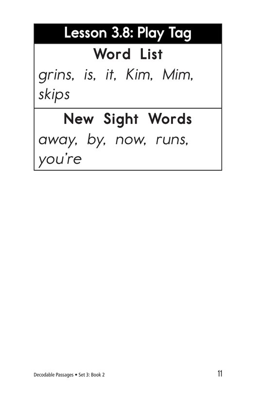 Book Preview For Decodable Passages Set 3 Book 2 Page 11