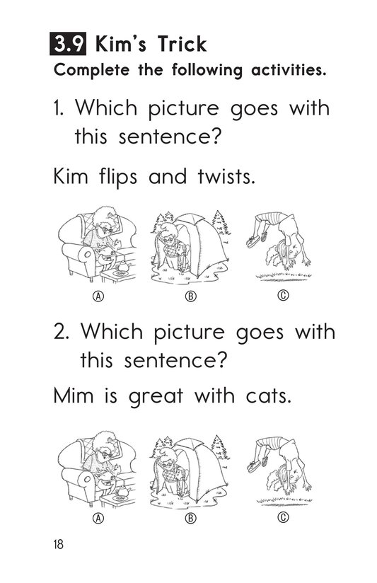 Book Preview For Decodable Passages Set 3 Book 2 Page 18