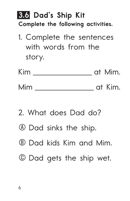 Book Preview For Decodable Passages Set 3 Book 2 Page 6