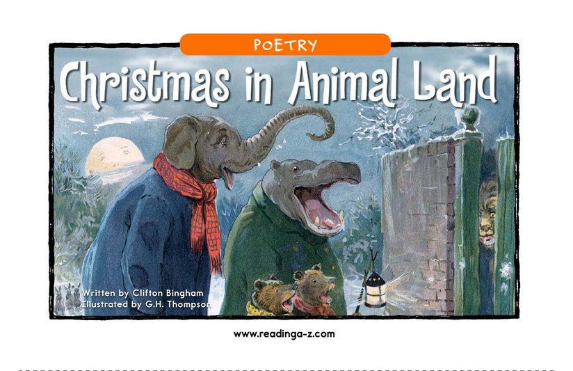 Book Preview For Christmas in Animal Land Page 1