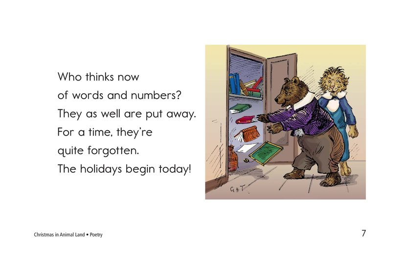 Book Preview For Christmas in Animal Land Page 7