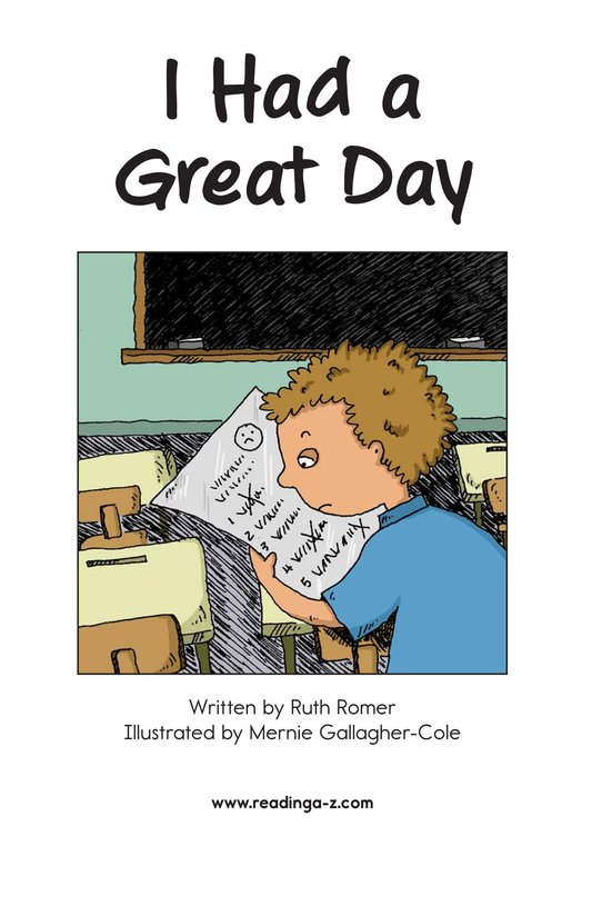 Book Preview For I Had a Great Day Page 2