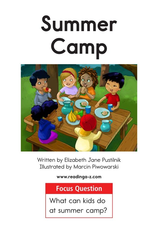 Book Preview For Summer Camp Page 1