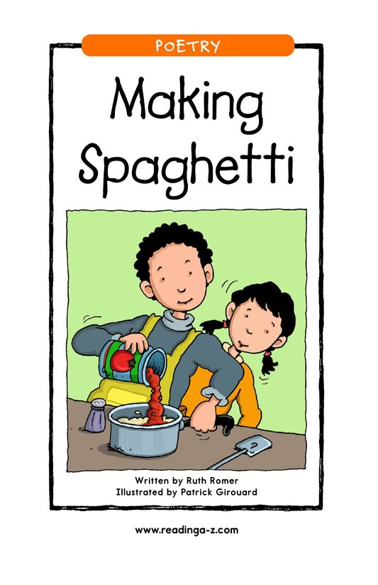 Book Preview For Making Spaghetti Page 1