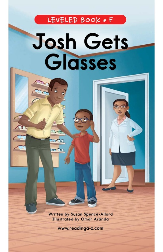 Book Preview For Josh Gets Glasses Page 0