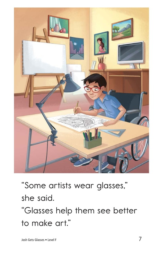 Book Preview For Josh Gets Glasses Page 7