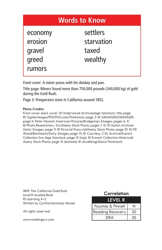 Book Preview For 1849: The California Gold Rush Page 2