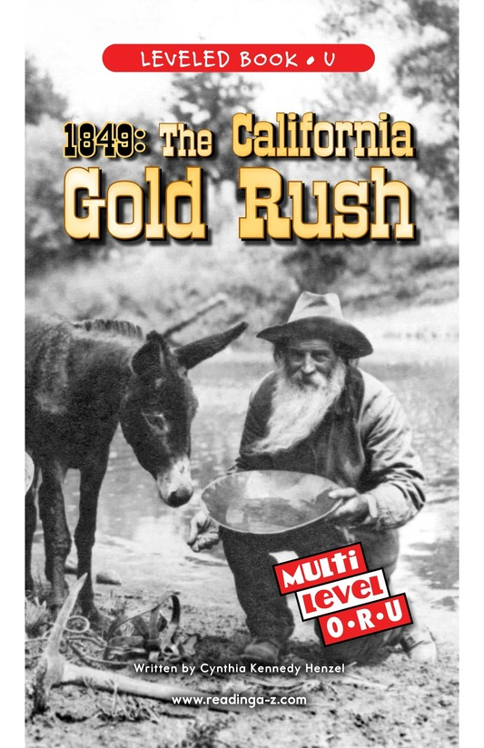 Book Preview For 1849: The California Gold Rush Page 0