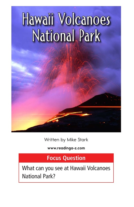 Book Preview For Hawaii Volcanoes National Park Page 1