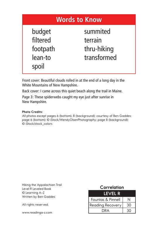 Book Preview For Hiking the Appalachian Trail Page 2