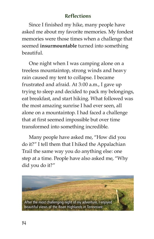 Book Preview For Hiking the Appalachian Trail Page 14
