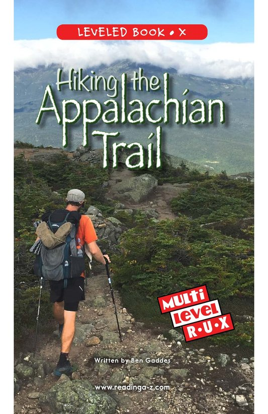 Book Preview For Hiking the Appalachian Trail Page 0