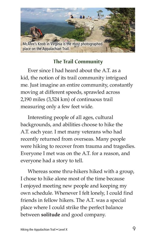 Book Preview For Hiking the Appalachian Trail Page 9