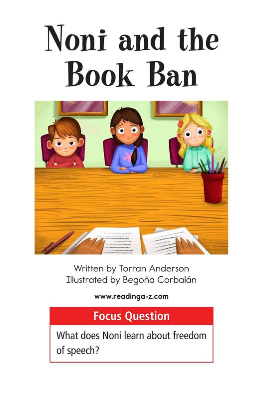 Book Preview For Noni and the Book Ban Page 1