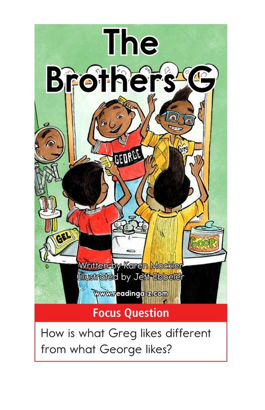 Book Preview For The Brothers G Page 1