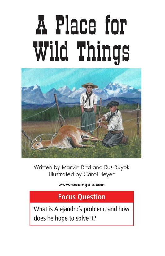 Book Preview For A Place for Wild Things Page 1