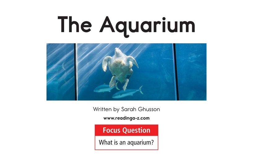 Book Preview For The Aquarium Page 1