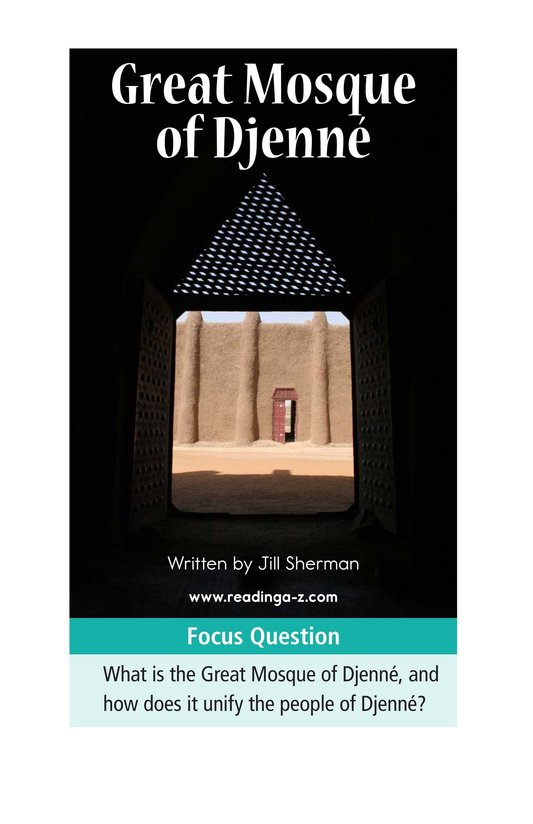 Book Preview For Great Mosque of Djenné Page 1