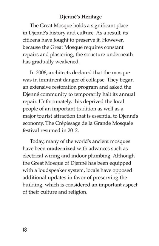 Book Preview For Great Mosque of Djenné Page 18