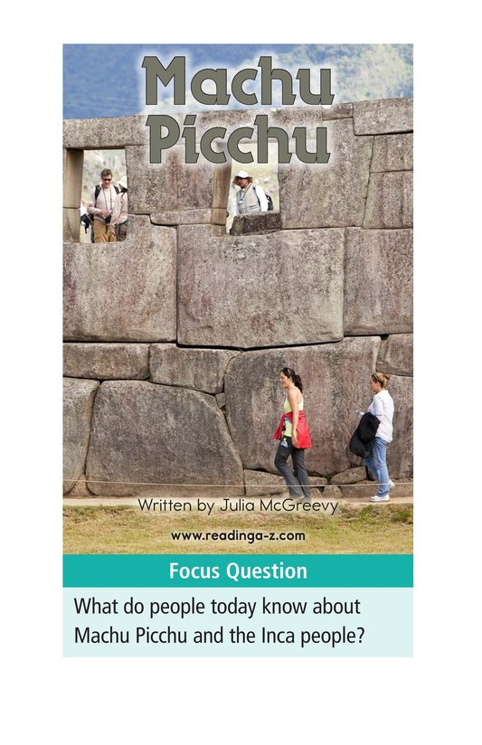 Book Preview For Machu Picchu Page 1