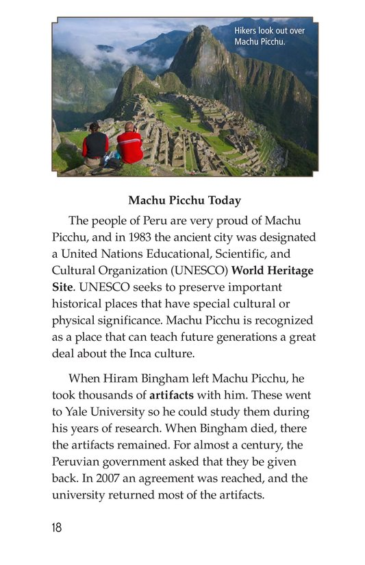 Book Preview For Machu Picchu Page 18