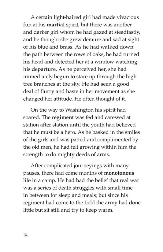 Book Preview For The Red Badge of Courage (Part 1) Page 14