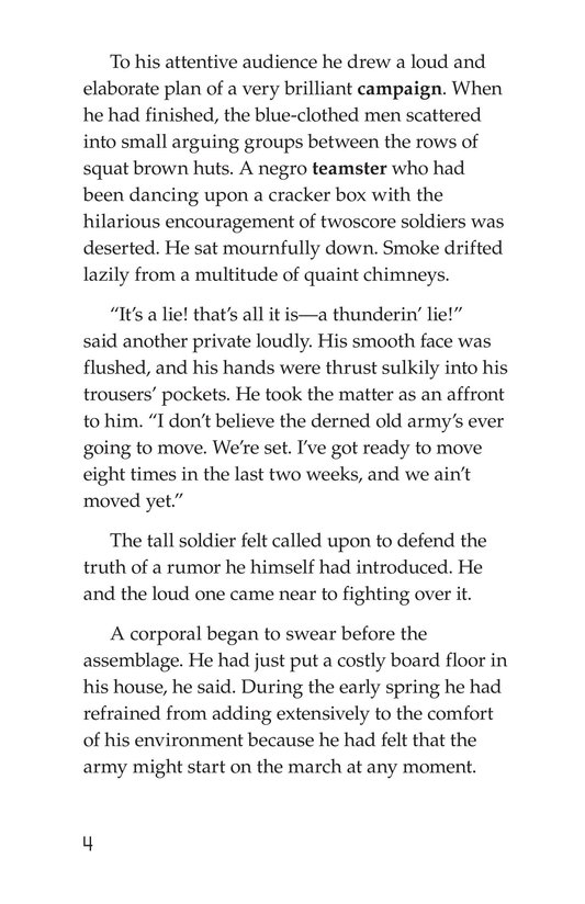 Book Preview For The Red Badge of Courage (Part 1) Page 4