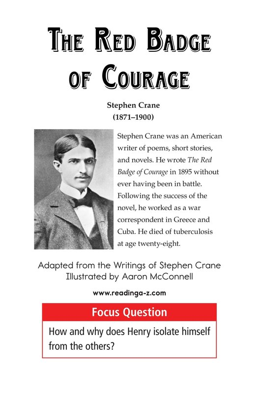 Book Preview For The Red Badge of Courage (Part 2) Page 1
