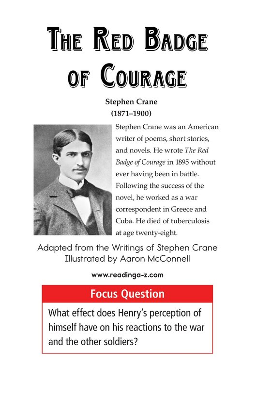 Book Preview For The Red Badge of Courage (Part 3) Page 1