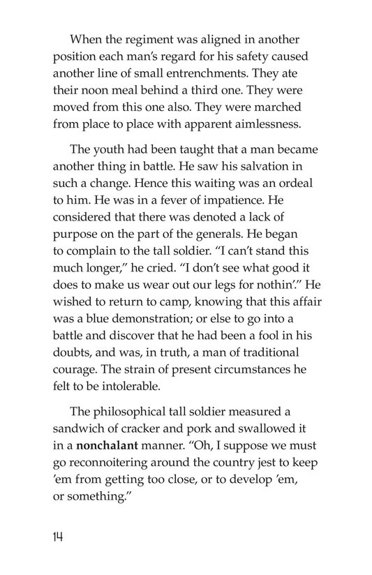 Book Preview For The Red Badge of Courage (Part 3) Page 14